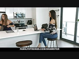 Family Strokes - Lesbian Milfs Threesome With Foster Son