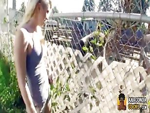 Blonde Punk Slut Flashing...