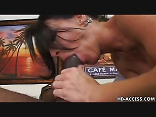 Picture Stunning Raven Haired MILF Rides On A Black...