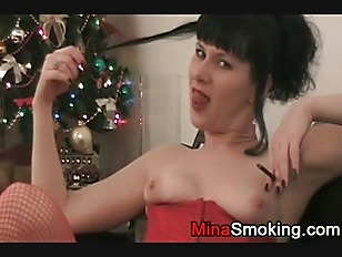 Picture Smoking Amateur Housewife