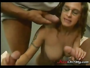 Tits cum drenched