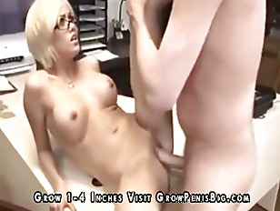 Picture Blonde Office Slut