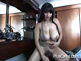 Busty Boobs Masturbating On...