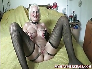 Picture Pierced Granny With Chains