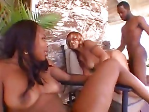 Ebony mom and daughter nudist ass