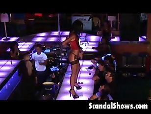Picture Horny Brunette Slut Takes Her Red Leather Co...