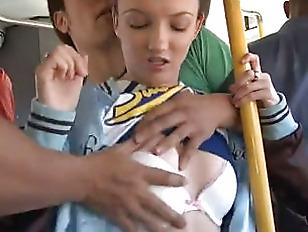 college girl fucks guy - Asian guy fucks college white girl on bus