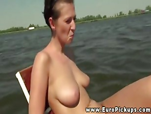 Real European Babe Flashes...