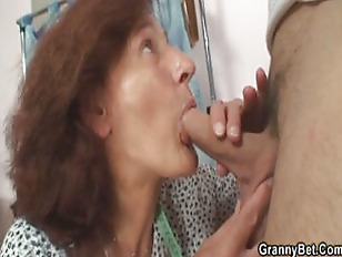 Nice riding young granny enjoys cock sewing impossible