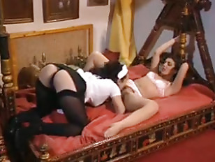 Picture Sexy Maid And The Sleeping Lingerie Chick