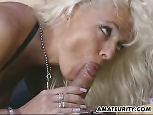 Busty Amateur Milf Sucking...
