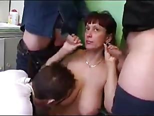 Russian Milf Gangbang 8