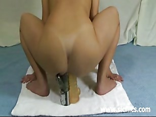 Picture Three Giant Dildos Stuffed In Her Mutilated...