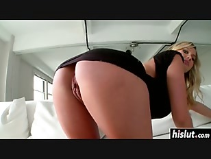 Busty blonde makes his cock hard