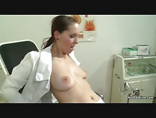 image German nurse want a semen example and get it with fuck