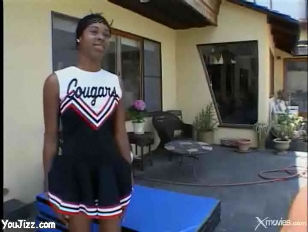 Sweet Young Ebony Cheerleader...