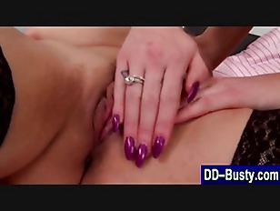 Picture Big Breasted Redhead Lez Licks Pussy