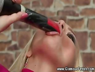 Hot Blonde Getting Foot...