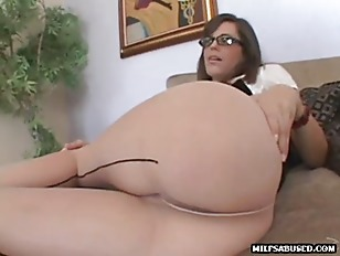 Picture MILF Babe Wearing Glasses Sucks Dick Before...