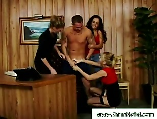 Picture Trio Of Tight Body Sluts Catch Guy And Get N...
