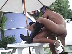 Picture Latin Honey Fucked Outdoors