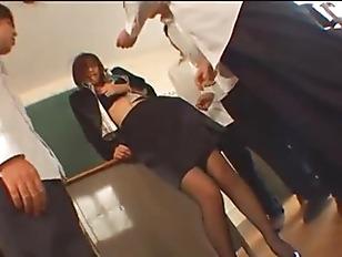 Japanese Teacher Gets Busy