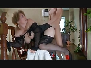Russian MILF gets some hard cock in her ass
