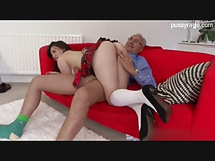 Picture Super Horny Brunette Fucked By Old Grampa