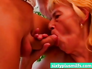 Granny Enjoys Her Young...