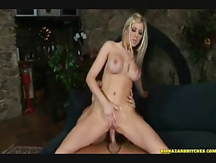 Hot blonde getting a...