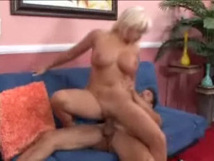 Picture Riding A Big Titted Blonde