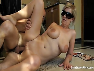 Busty blindfolded blonde girl getting fucked hard