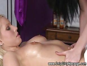 Lesbian Masseuse Massages A...