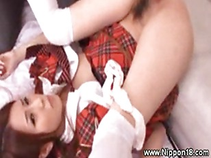 Turning on asian schoolgirl...