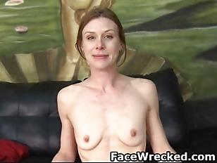 Skinny Brunette Slut Getting...