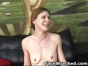 Picture Skinny Brunette Slut Getting Her Face Totall...