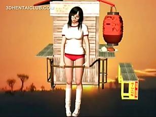 Cute Hentai Schoolgirl Dreaming...