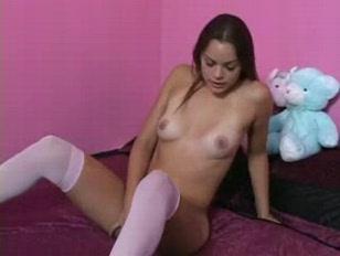 Picture Purple Dildo Pleases A Latina Babe