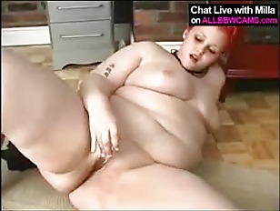 Picture Horny Sexy Fat BBW Fucks Herself 2