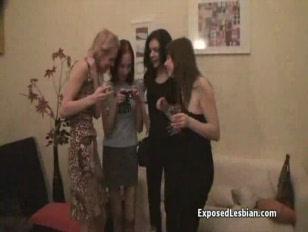 Lesbian teen Orgy...
