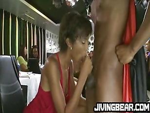 Ebony Babe Gets Cummed...