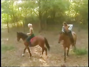 Hot Couple Fucks On A Horse