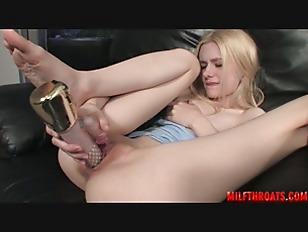 Cute Pornstar Stuffing Her...
