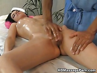 Picture Titted Brunette Doing Erotic Massage