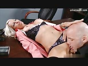Blonde beauty at the office gets fucked