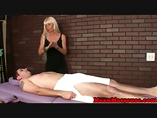 Classy Cougar Masseuse Gives...