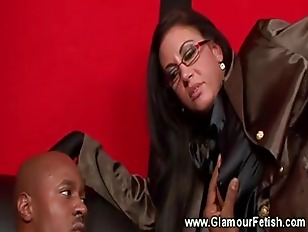 Hot Babe In Interracial...
