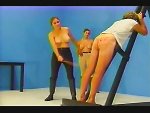 Caned by two mistresses...