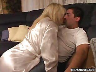 Picture Blonde MILF With Big Tits Strips And Gives A...