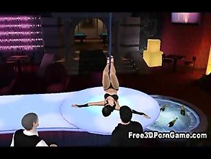 Sexy 3D Cartoon Stripper...